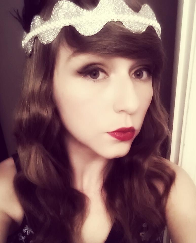 I am in love with the headband I made for The Great Gatsby midnight showing last week <3