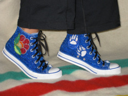 Converse Shoes by Doreen Manuel (Secwepemc and Ktunuxa ancestry)