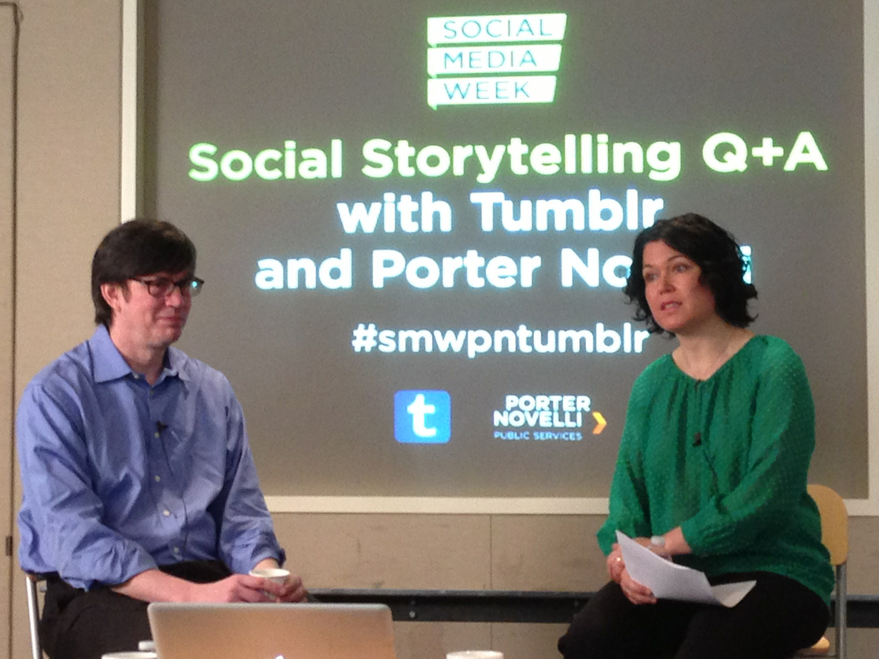 "This morning we're checking out ""Social Storytelling Q&A"" with Tumblr's own Mark Coatney as part of DC's Social Media Week!"