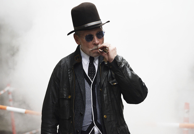 thetieguy:  probably my favorite nick wooster photo to date. just like something out of a movie…  Nick is about to throw some punches, as it stands.