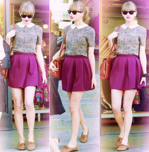 Taylor Swift shopping with friends in Beverly Hills, California. 18.5.13