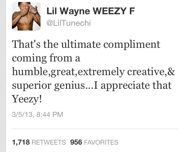 Lil Wayne's reply to Kanye's interview..