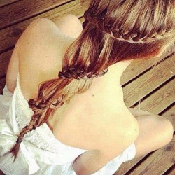 flo-99:  Braid your hair~ on We Heart It - http://weheartit.com/entry/52547164/via/Lamacorn_