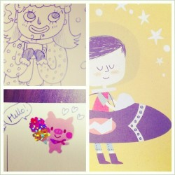 @cheesinling sent :) #swap #postcrossing #postcards  #doodles #illustration #stickers