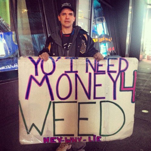 At least he's honest. (at Times Square)