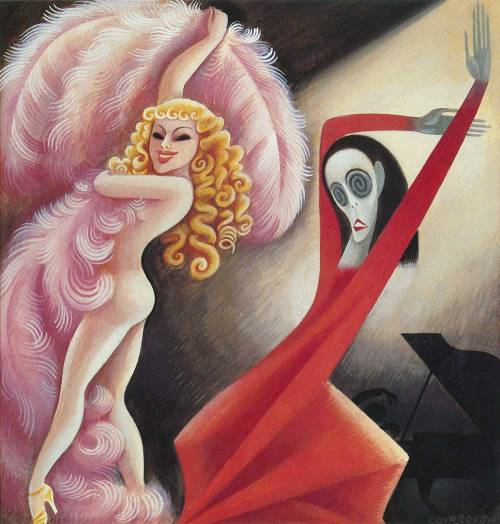 Miguel Covarrubias, Sally Rand and Martha Graham, 1934.