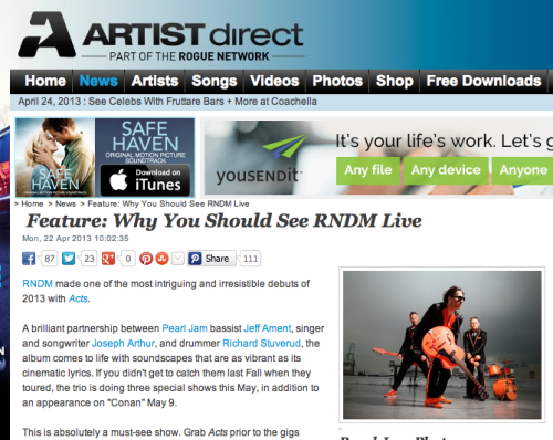 RNDM still has a beef with ARTISTdirect