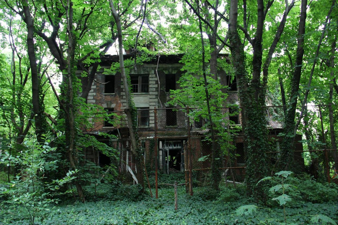 abandonedporn:  Abandoned Island in the Middle of NYC Located in between Queens and the Bronx, in 1885 the island was used to build a hospital complex to quarantine and treat people suffering from smallpox and typhoid fever. In the 1950's it was turned into a rehab center. The entire island has been abandoned since 1963. (source)