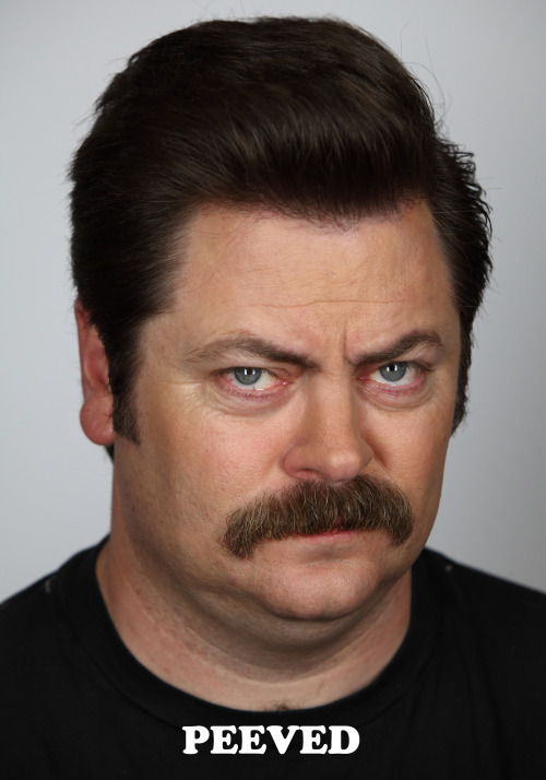 nbcparksandrec:  Today, Ron is feeling peeved.