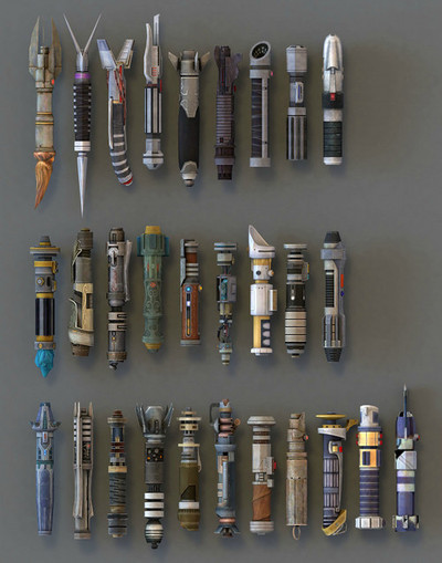 thingsorganizedneatly:  SUBMISSION: Lightsabers from Star Wars: Knights of the Old Republic