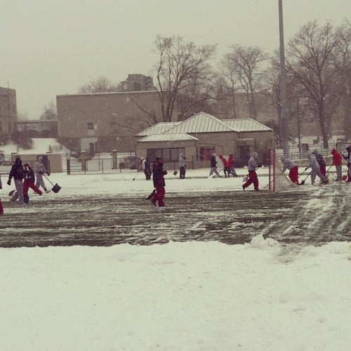 owu360:  The OWU lacrosse team is dedicated. Do you know anyone else who shovels snow just so they can practice in the cold? Me neither. (Photo from Patrick Bassett on Instagram)  Sometimes we have to do this up here in North Dakota.