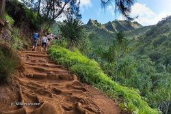 """#Kalalau Trail in #Kauai. Some of the Jurassic Park locations are along this #Napali Coast area. I would have liked to see a Pterodactyl. This also is close to #Hanalea Bay where """"Puff the magic dragon"""" originates. So this is really is a truly """"#fantastic"""" place! (at Kee Beach)"""