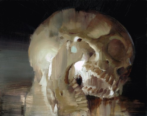 art-and-fury:  Skull Study series - Kim Cogan