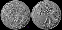 New Kickstarter for a new coin! This pic is of what the front and back of the coin will look like.
