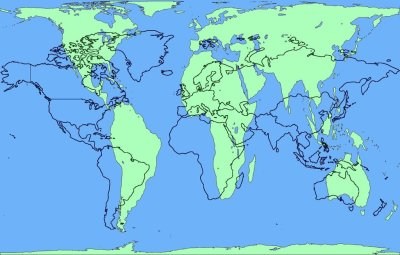"picardwouldtotallyrulekirk:  landofmaps:  Area accurate Peters Projection Map overlaid with common Mercator Projection Map [1609x1024]  I always get fascinated by these. If this is true, why not just make more accurate maps?  Neither of these are ""accurate"". Both of these maps compensate for the fact that unless you're looking at a globe, it's impossible to show the world accurately in 2D. The Mercator map stretches the longitudinal parabola more as you progress further from the equator, leaving latitudes alone, however it retains land's relationship and orientation. In this, the Peterson Projection, formerly termed the Gall's orthographic, there is a cylindrical approach. It attempts to compensate for the fact that the latitudes are derived from a degree from the center on flat paper approach, and due to the curvature of the earth, that ""head on"" distance is not the same as played out when actually travelling the curvature. It seems, looking at a Mercator Projection, that longitudes are equally spaced, however, they're not. The Gall/Peterson Projection is"
