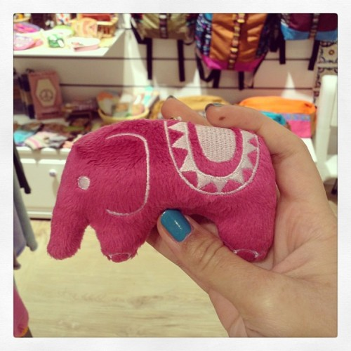 A super #cute #stuffedelephant I bought for my sis :) #elephant #stuffedtoy #toy #pink #adorable (at Titicaca, World Trade Center, causeway Bay)