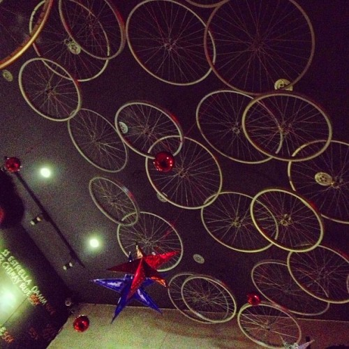 Look up.  (at Handlebar)