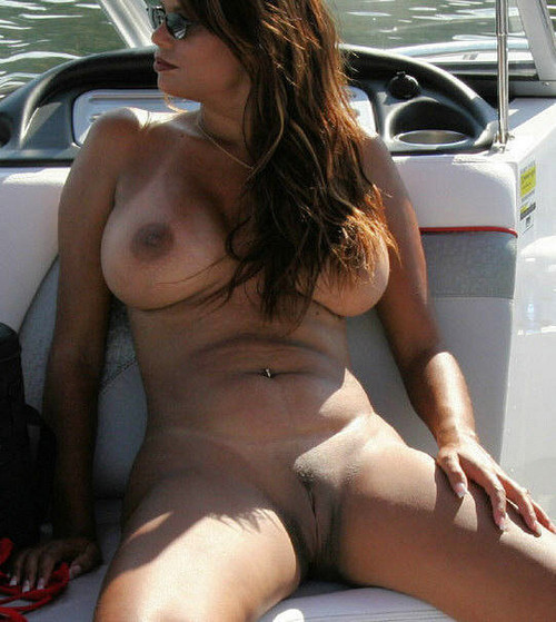 public flashing Nude Milf on the Boat Mature Pussy milf mature cougar nude