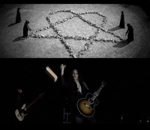 """Images from our upcoming music videos."" (source)"