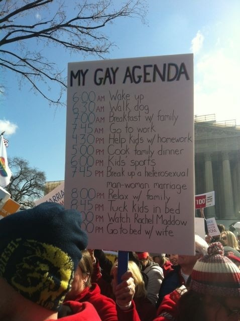 Protest sign outside the supreme court today.
