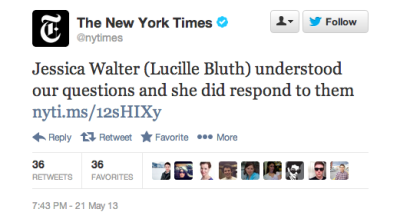 hulu:  When even The New York Times makes an Arrested Development joke, you know that we are a nation obsessed.
