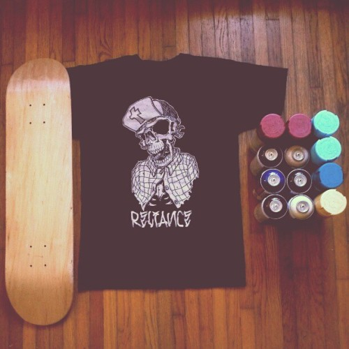 Thanks @zaoone for the #skateboard deck, #relianceskatboard #tee, and #spraypaint. Much appreciate! #gift #tshirt #design #ironlak #rustoleum #rusto #spraycan #BrotherinChrist #Christian #followyourpassion #leadbythespirit #instagood #igers #jj