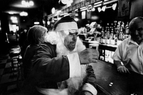 Santa Drinking by Bruce Gilden. Happy Holidays!