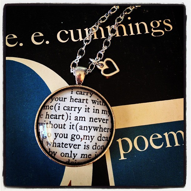 Custom Request! Love love love how it turned out #eecummings #authoredadornments #etsy
