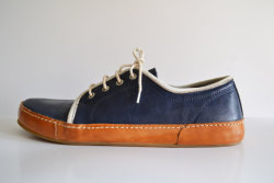 etsy:  Handmade Curried Leather Sneakers by MDesignWorkshop.