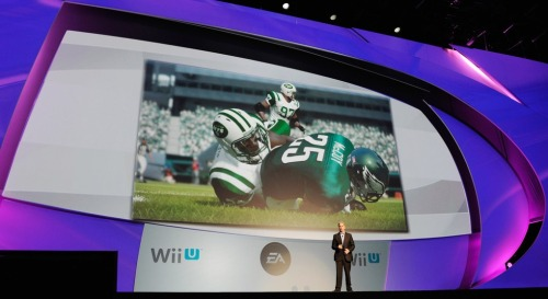 "EA: Absolutely Nothing in the Pipeline for Wii U Here's the byline bouncing around this evening: Despite EA announcing an ""unprecedented partnership"" between itself and Nintendo at E3 circa 2011, the game publishing giant has revealed it currently has no games in development for the struggling Wii U. That oath, made while CEO John Riccitiello had a clasp on the company's reigns, manifested in several ports of popular titles — Mass Effect 3, Need for Speed: Most Wanted, and Madden included — that long since had homes on the Xbox 360 and PS3.  According to EA's spokesperson, Jeff Brown, those handful of ports encompass the whole of their Wii U partnership, ensuring future blockbusters such as Battlefield 4, FIFA, and Madden 25 won't be making it onto Nintendo's newest console. Having that waterway dry up —  the""waterway"" here referring to one of the biggest third-party publishers in the world — further shoves Wii U into a rough corner.  But, as Kotaku illustrates, ever since the first Wii third-parties have had a hell of a hard time finding success on Nintendo's systems.  Usually Nintendo's first-party hits take up the lion's share of sales while third-parties are left to scavenge for scraps.  Follow that with Nintendo's increasingly upward slope of a fight to put their hardware in gamers' homes, and even the big boys like EA are turning their back to the Japanese monolith. Business is business, however, and EA isn't likely to give Wii U the lifetime shunning if the system starts to perform well.  Hell, EA might even be threatening a drought just to incite Nintendo into shaping up and narrowing their focus on pushing their console.  Just a musing.  Ultimately, time — and your dollars — will tell."