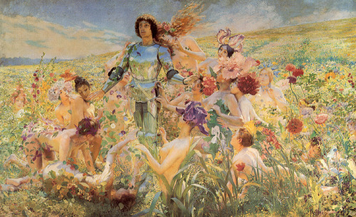 theentwood:  Knight of the Flowers (Ser Loras) -Georges Rochegrosseoil on canvas  ART in Westeros