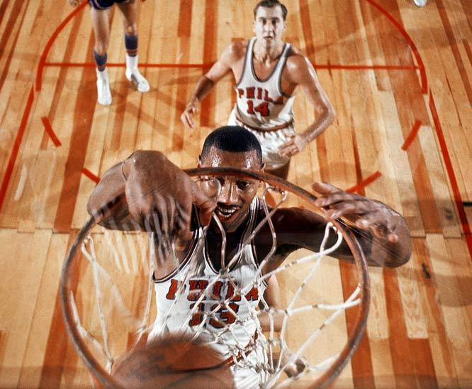 On this day in 1960, Wilt Chamberlain scores 58 points, the most ever by an NBA rookie, as Philadelphia beats Detroit 127-117 in Bethlehem, Penn. (John G. Zimmerman/SI) GALLERY: Rare Photos of Wilt Chamberlain