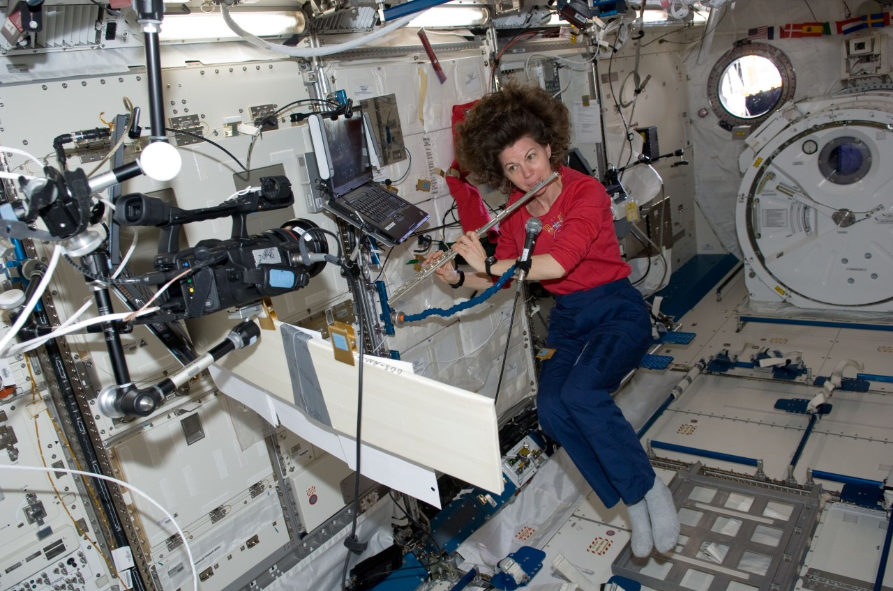 Shout-out to NASA astronaut Cady Coleman for playing flute on the International Space Station multiple times in microgravity.