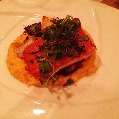 Fish & grits. Hooray, the South! (at The Southern Steak & Oyster)