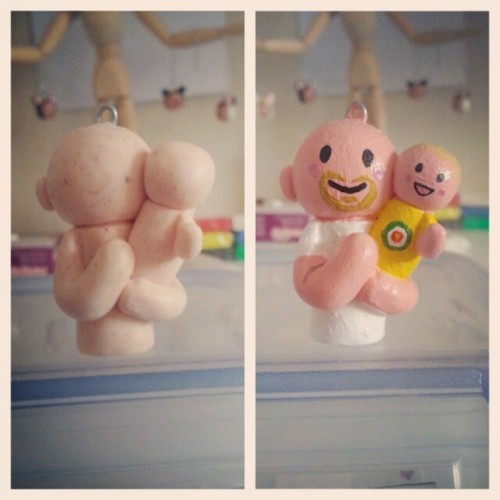 Before and after! #keyring #baby #customised  #custom #customgifts #personal #personalisedgift #craft #handmade #maycontainsooz #maycontainsoozcustomcrafts #clay #polymerclay #figures #f