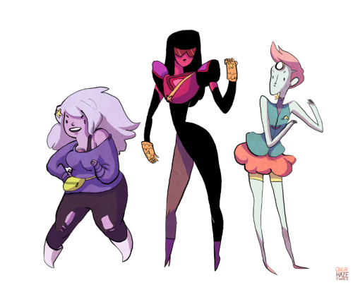 gingerhaze:  so the Steven Universe (an upcoming Cartoon Network animated series helmed by Rebecca Sugar) pilot hit the web today and I just really love the look of these ladies, like a lot!
