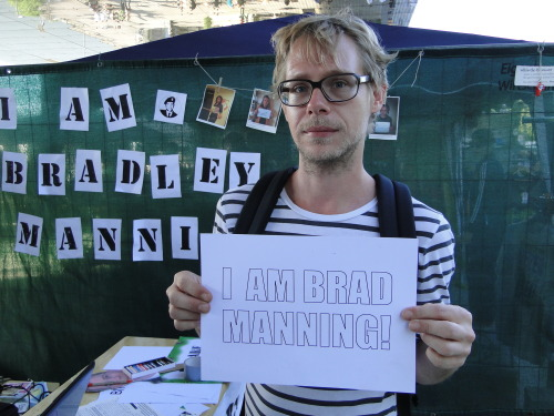 I am Dominik from Austria and I support Bradley Manning because he did the right thing.