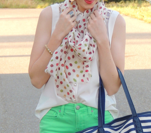 Spring Polka from Kacie's KlosetWe're loving the spring colors! Nepali by TDM Ambassador Kacie's Kloset looks great in our Spring Polka paired with neon green jeans.