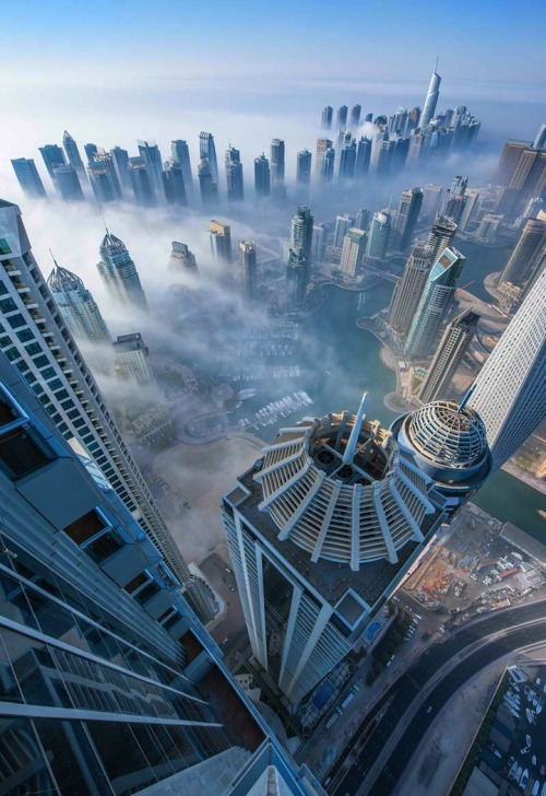 Photoblog Spotlight: Dubai Fog and Other Cityscapes  The photo was taken by Sebastian Opitz, a German Dubai-based photographer. Visit his website for more of his work! Check this Daily Mail article for more of the Fog photos.