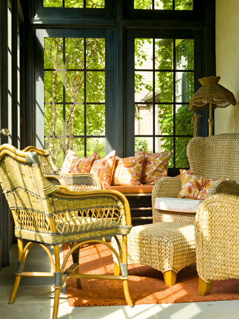 sunny and cozy sunporch