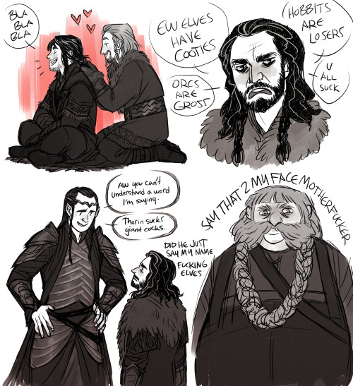 edithottilia:  I did it I finally drew fanart for the hobbit g o d