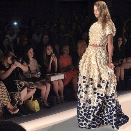 Stunning finale dress at Noon by Noor. Wow!  Photo by Julia Rubin.