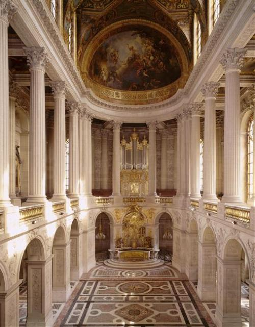 The royal chapel at Versailles, where Marie Antoinette and Louis XVI were married on May 16th, 1770.  (C) RMN-Grand Palais (Château de Versailles) / Harry Bréjat