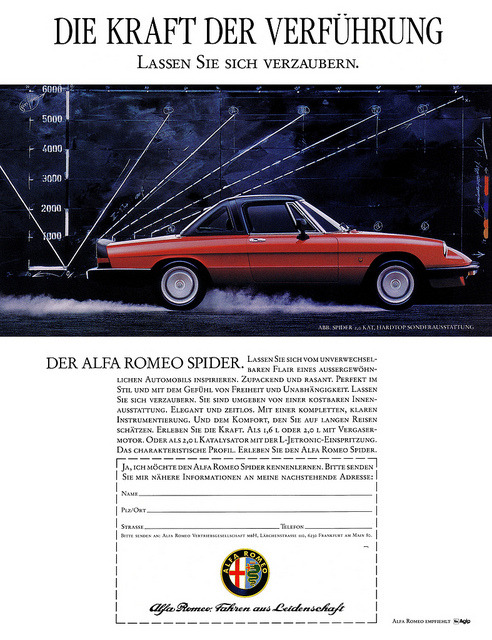 alfaspiderclassic:  Alfa Romeo Spider (1988) Hardtop 2.0 Katalysator by H2O74 on Flickr.