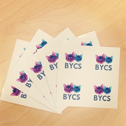 ERMAGERD STICKERZ! New BYCS stickers for sealing orders, defacing public property and just general merriment.