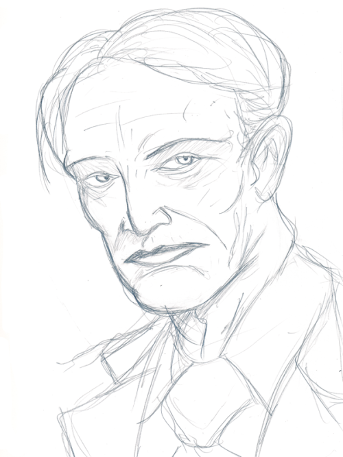 Mads Mikkelsen as Hannibal sketch