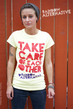"""Take Care of Each Other"" tee- by Rainbow Alternative on Etsy."