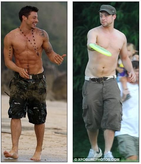 fat-male-celebrities:  Duncan James weight loss  He is sexy in both pictures. I would have him before and after.