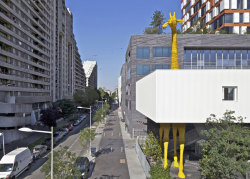 Giraffe Childcare Centre, Paris by French studio Hondelatte Laporte. Love it. More pics at Dezeen