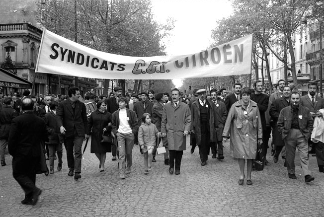 Simos Tsapnidis     Unionized Workers Demonstrating In Conjunction with Students, Paris     May, 1968
